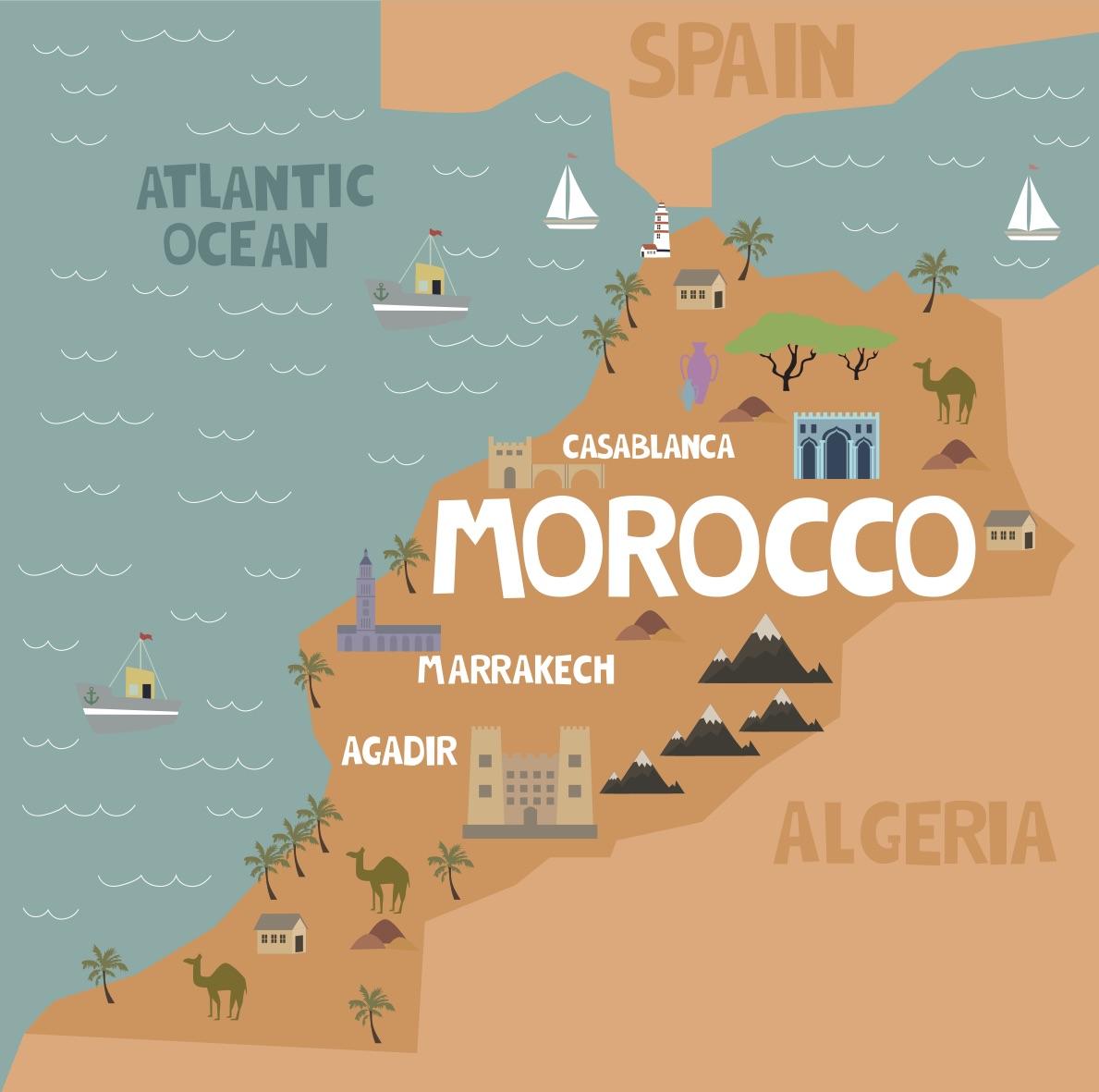 ¿Dónde se encuentra ubicado Marruecos?