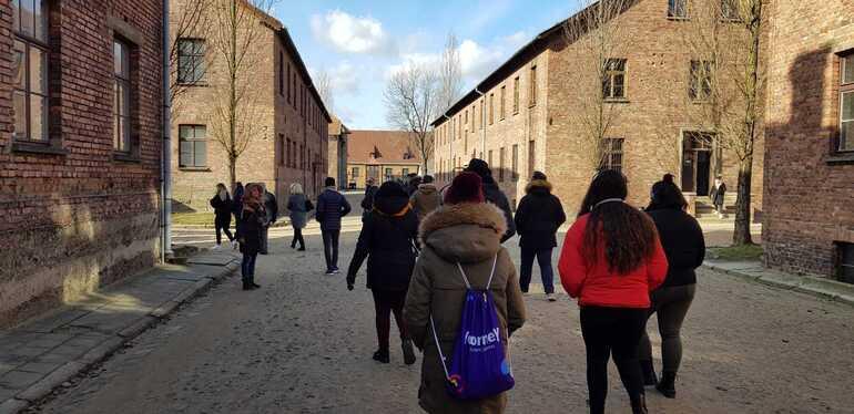 La gran morgue en el campo de concentración