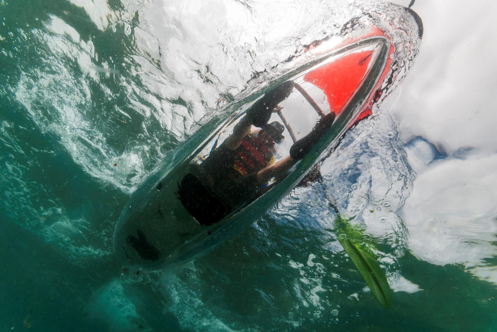 Tour Clear Kayak in Las Canteras with Snack