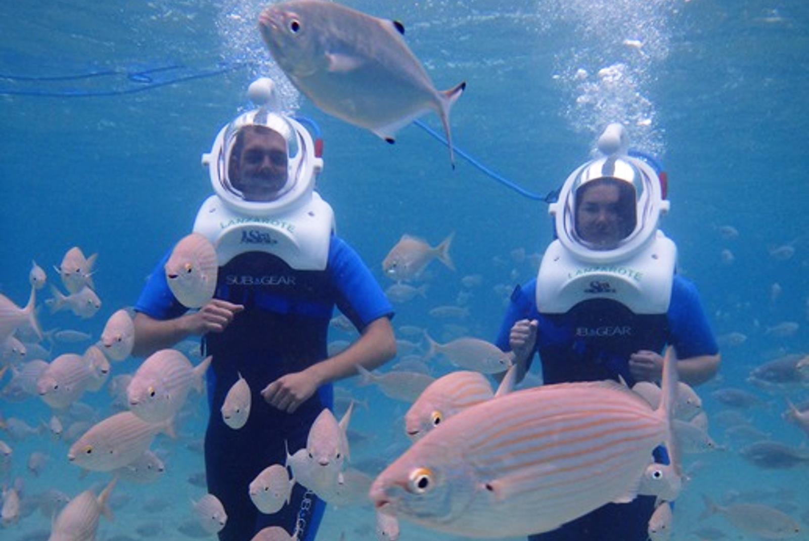 Sea Trek Diving with Helmet in Lanzarote