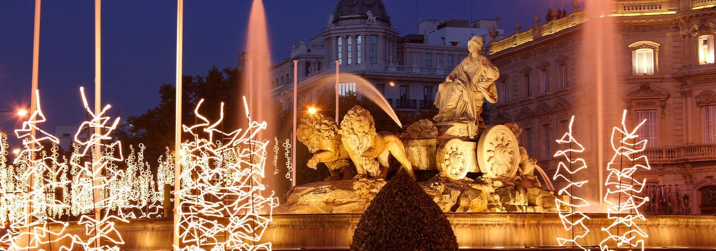 Madrid Christmas Lights By Bus Tour